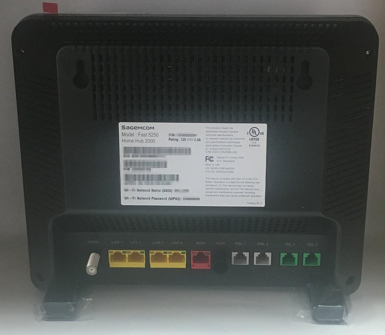 Bell home hub 2000 modem / Sagemcom F@st 5250 for CanNet, Carrytel and  Teksavvy VDSL internet up to 50m
