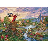 M C G Textiles 12 x 16-inch Disney Dreams Collection Fantasia Counted Cross Stitch Kits