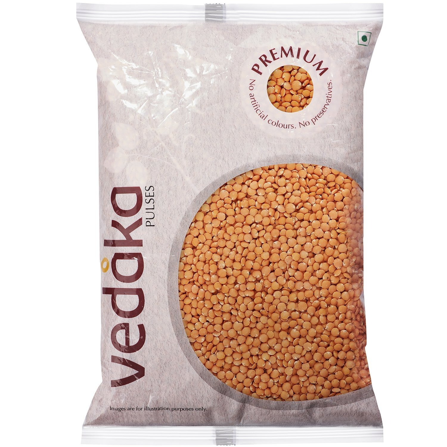 Vedaka Premium Red Masoor Whole, 1kg