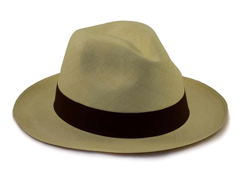 f95f7d52a083b Tumia LAC Premium Weave Genuine Rollable Foldable Panama Hat - Fedora Style  - fair Trade