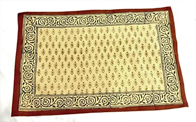 Amazon Com Set Of 2 Rug Placemats Woven Carpet Table