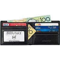 BIBURRY Wallets for Men - RFID Blocking Mens Bifold Genuine Leather Slim Wallet - Gift Box for Men