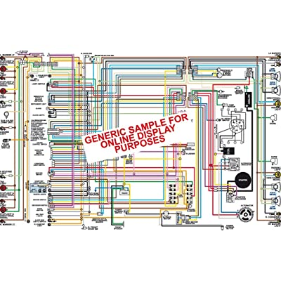 "Full Color Laminated Wiring Diagram FITS 1969-1970 - 1971 Oldsmobile 442 Large 11"" X 17"" Size: Automotive"