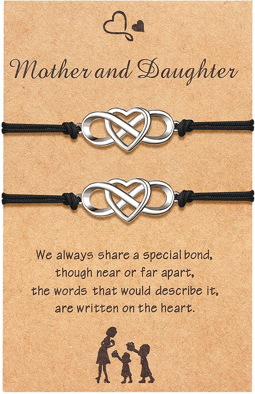 Gift for Mum First My Mother forever my Friend Mother gift for Mom Mother day gift Mother daughter gift set of 2 Mum wish bracelet