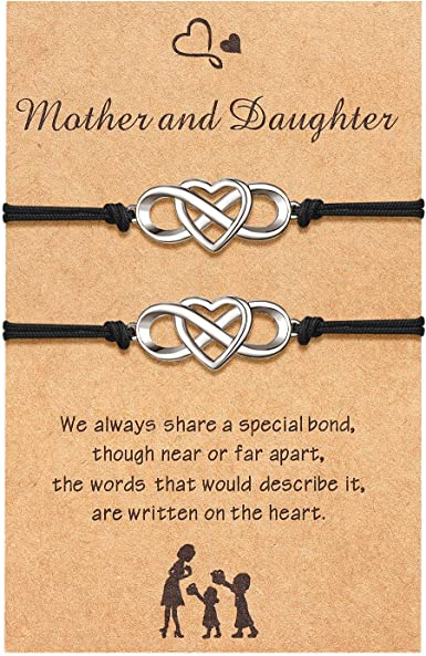 Mother Daughter Bracelet Set Mommy and Me Jewelry Mother Daughter Matching Bracelets Rose Gold Heart Bracelet Gift For Mom Bracelet For Mom