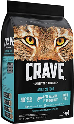 CRAVE Grain Free Dry Cat Food with Protein from Salmon and Ocean Fish Bag
