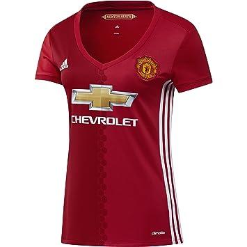 Adidas H JSY W Camiseta 1ª Equipación Manchester United 2015/16, Mujer, Rojo/Blanco, XXS: Amazon.es: Deportes y aire libre