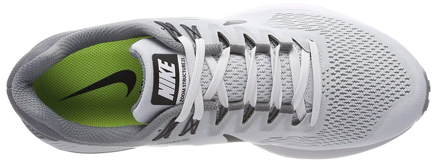 4ceefc92703b Nike Air Zoom Structure 21 Mens Fashion-Sneakers 904695-005 7.5 - Pure  Platinum Anthracite-Cool Grey  Buy Online at Low Prices in India - Amazon.in