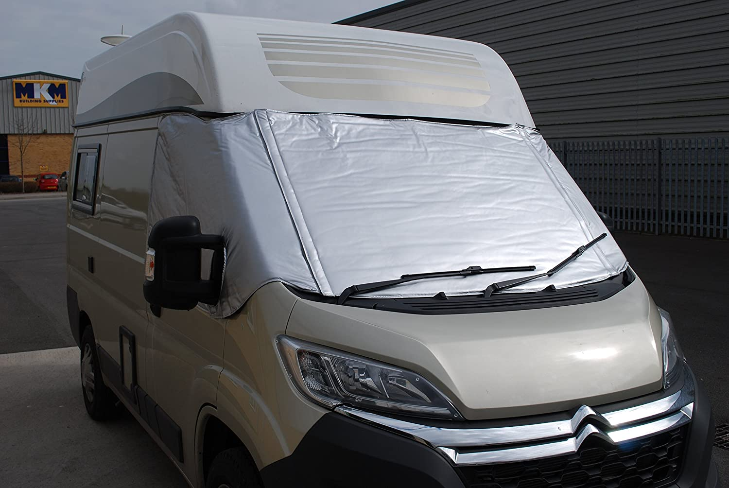 FIAT DUCATO SILVER INSULATION SCREEN 2006 ONWARDS WITH FOLD DOWN FRONT VC26FI0201