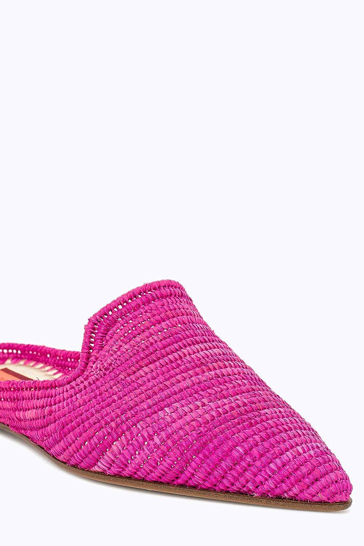 PATRIZIA PEPE Ciabatta alla Moda Spotlight Pink Sabot in Rafia