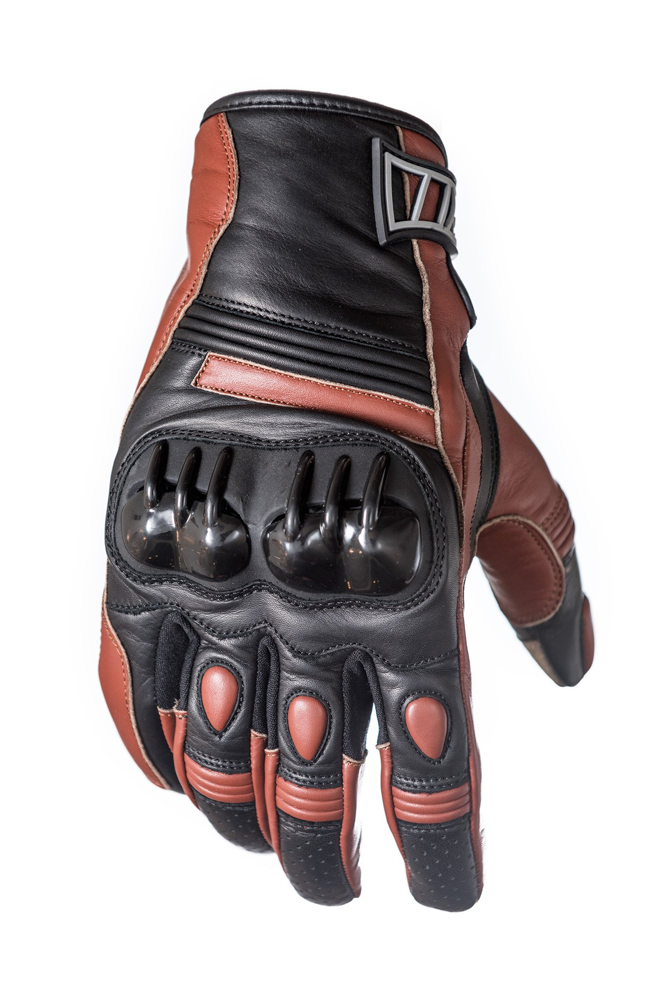 Protect the King Hawkins Premium Leather Motorcycle Sport Biker Gloves (Large)