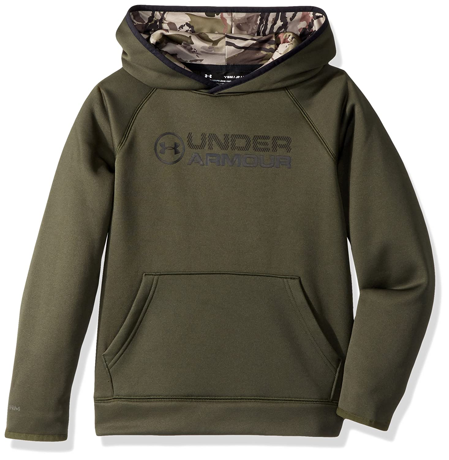 Under Armour Outerwear Under Armour Boys' Armourfleece Stacked Hoodie Under Armour Outdoors