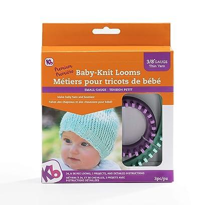 38b4b477ee3 Amazon.com  Authentic Knitting Board KB8200 KB Baby Knit Looms 3 8