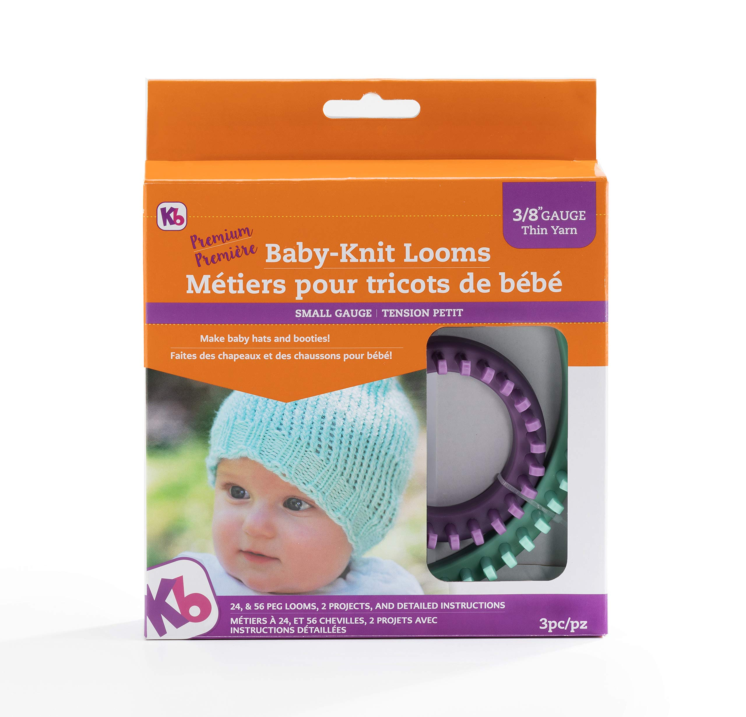 Authentic Knitting Board KB8200 KB Baby Knit Looms 3/8'' Gauge