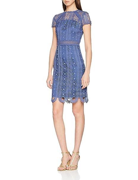 Chi Chi London Rima, Vestido de Fiesta para Mujer, Azul (Blue BL)