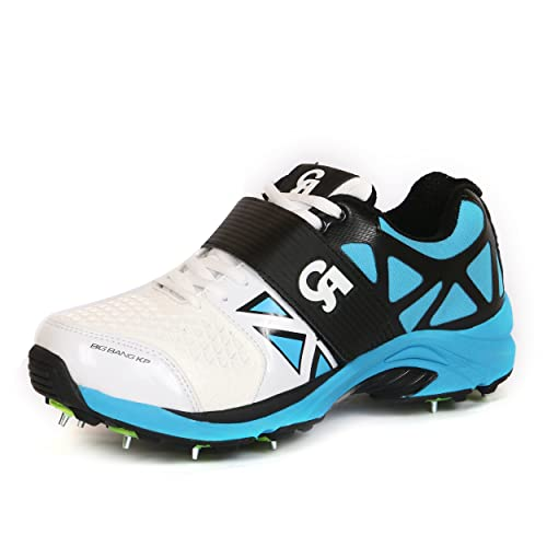 68b5af48b16b CA Big Bang All Rounder Metal Spike Cricket Shoes  Buy Online at Low Prices  in India - Amazon.in