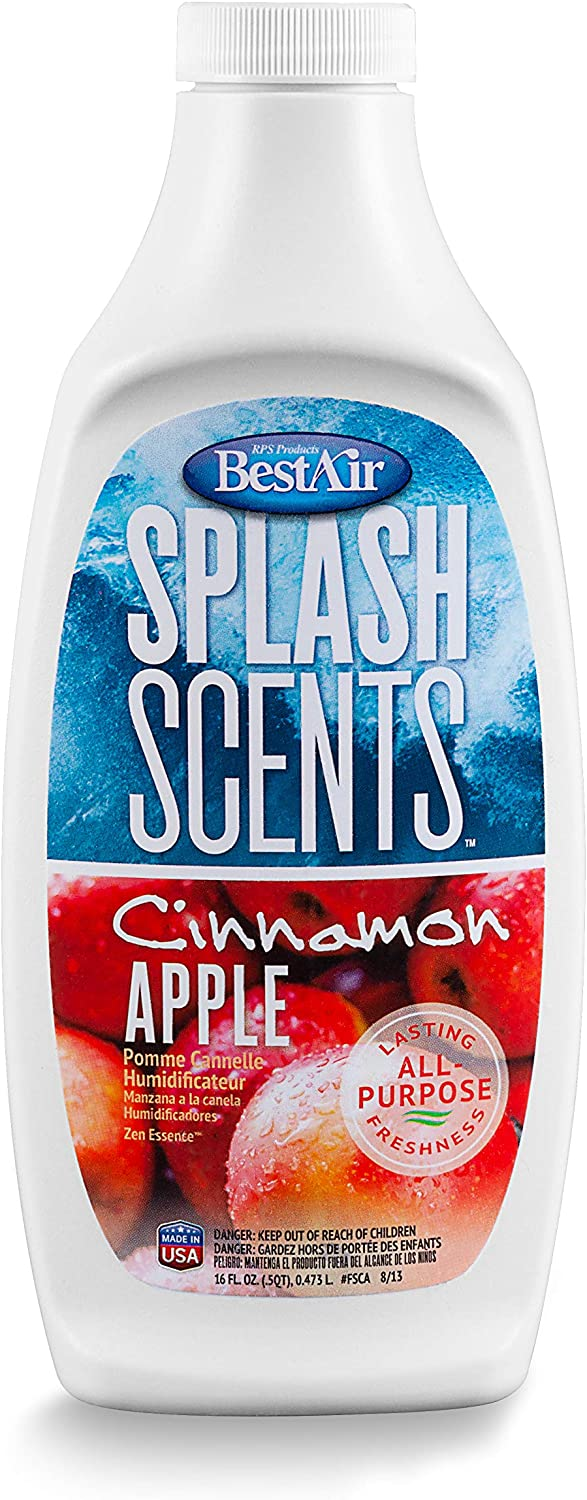 Bestair FSCA-PDQ-6 Splash Scents Humidifier Scent & Water Treatment, Cinnamon Apple, 16 fl oz, Single Pack