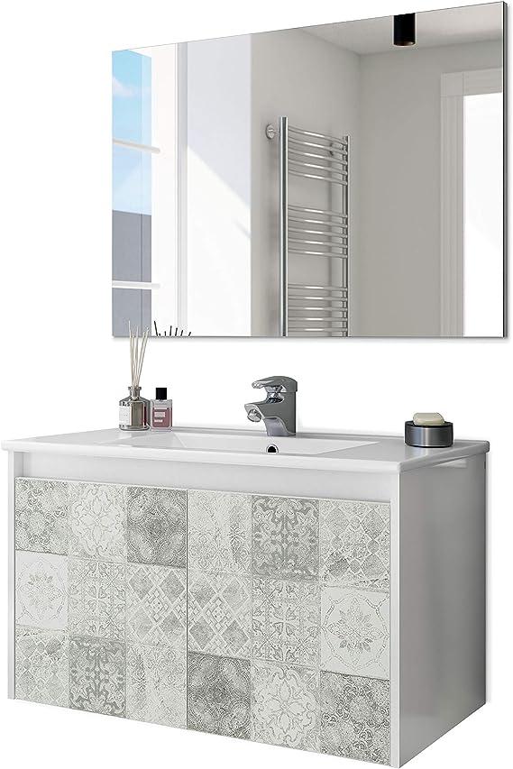 ARKITMOBEL 305034BO - Mueble de baño Due Dos Puertas con Estampado ...
