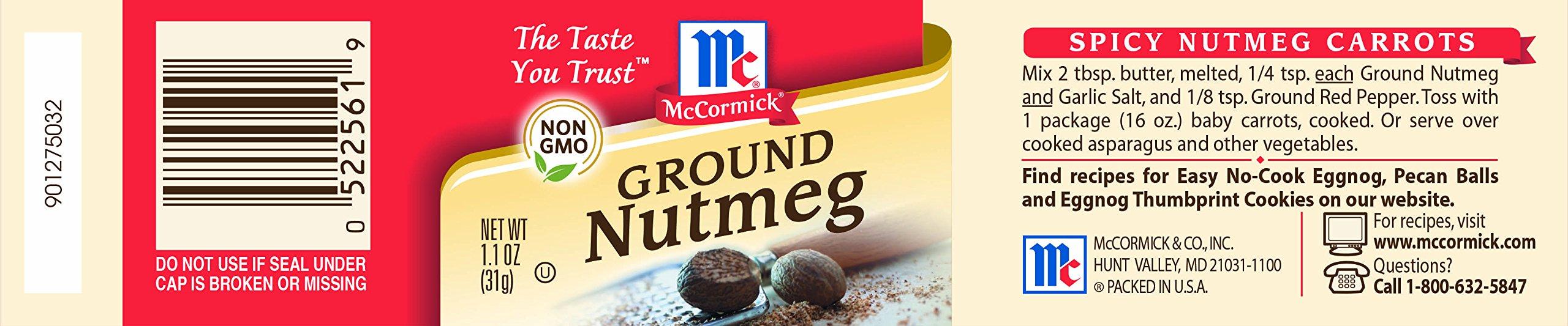 McCormick Ground Nutmeg, 1.1 oz by McCormick (Image #2)
