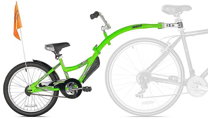 ffbff97ae18 WeeRide Kids Co Pilot Tagalong Trailer Bike - Fluoro Green, 20 Inch:  Amazon.co.uk: Sports & Outdoors