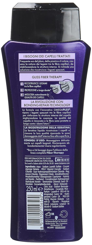 Amazon.com : Testanera - Gliss Hyaluron Hair Filler Hair Shampoo 250 ml / 8.45 oz : Beauty