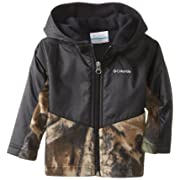 Columbia Baby Boys' Steens Mt Overlay Hoodie, Timberwolf/Black, 12-18 Months