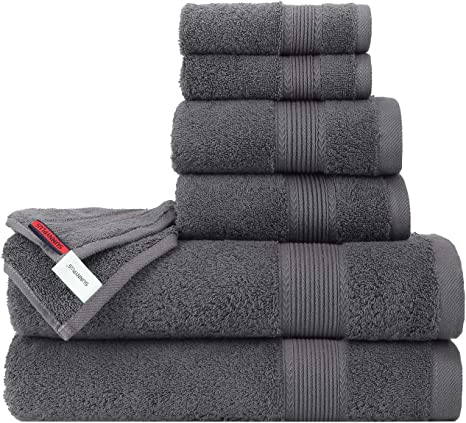 Bathroom Towel Set Organic Bath Towels Highly Absorbent Combed Cotton Soft