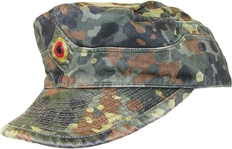 Gorra del ejército alemán, de camuflaje tipo flecktarn: Amazon.es: Ropa y accesorios