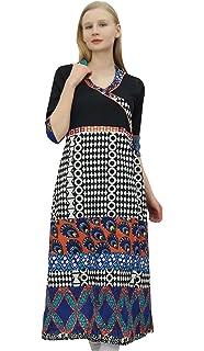 0ec7b2a35d Phagun Women's Classy Angrakha Style Kurta Kurti Dress Indian Clothing