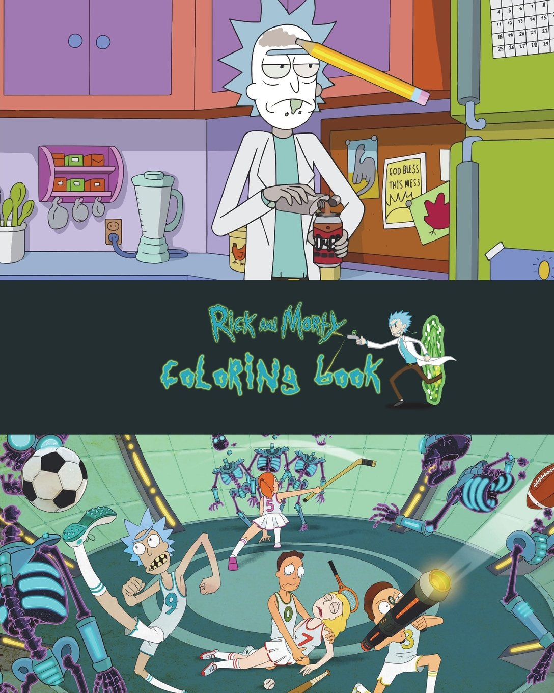 Rick And Morty Coloring Book Over 20 Rick And Morty