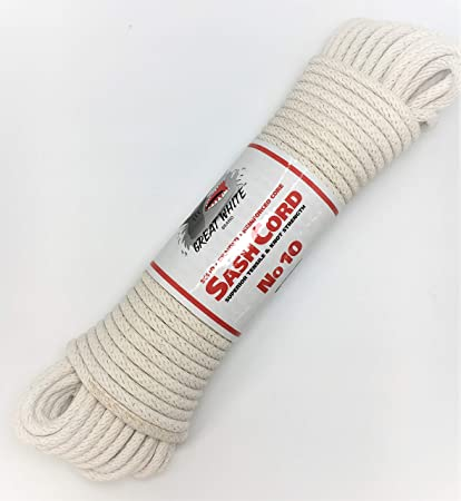 T.W Evans Cordage 46-080 Number-8 1//4-Inch Buffalo Cotton Sash Cord 100-Feet Hank T.W Evans Cordage Co.