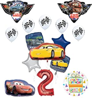 Amazon.com: Cars McQueen Tow Mater bandera de carreras 13 ...