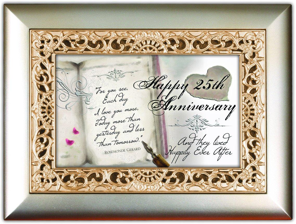 【限定品】 Happy 25th Anniversary Anniversary And They Lived Happily Ever Ever After Silver Champagne Silver Jewellery Music Box - Plays Song You Light Up My Life B00KMBU390, スーパーセール期間限定:cf6939e5 --- arcego.dominiotemporario.com
