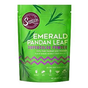 Suncore Foods – Premium Pandan Leaf Supercolor Powder, 3.5oz each (1 Pack) – Natural Pandan Leaf Food Coloring Powder, Plant Based, Vegan, Gluten Free, Non-GMO