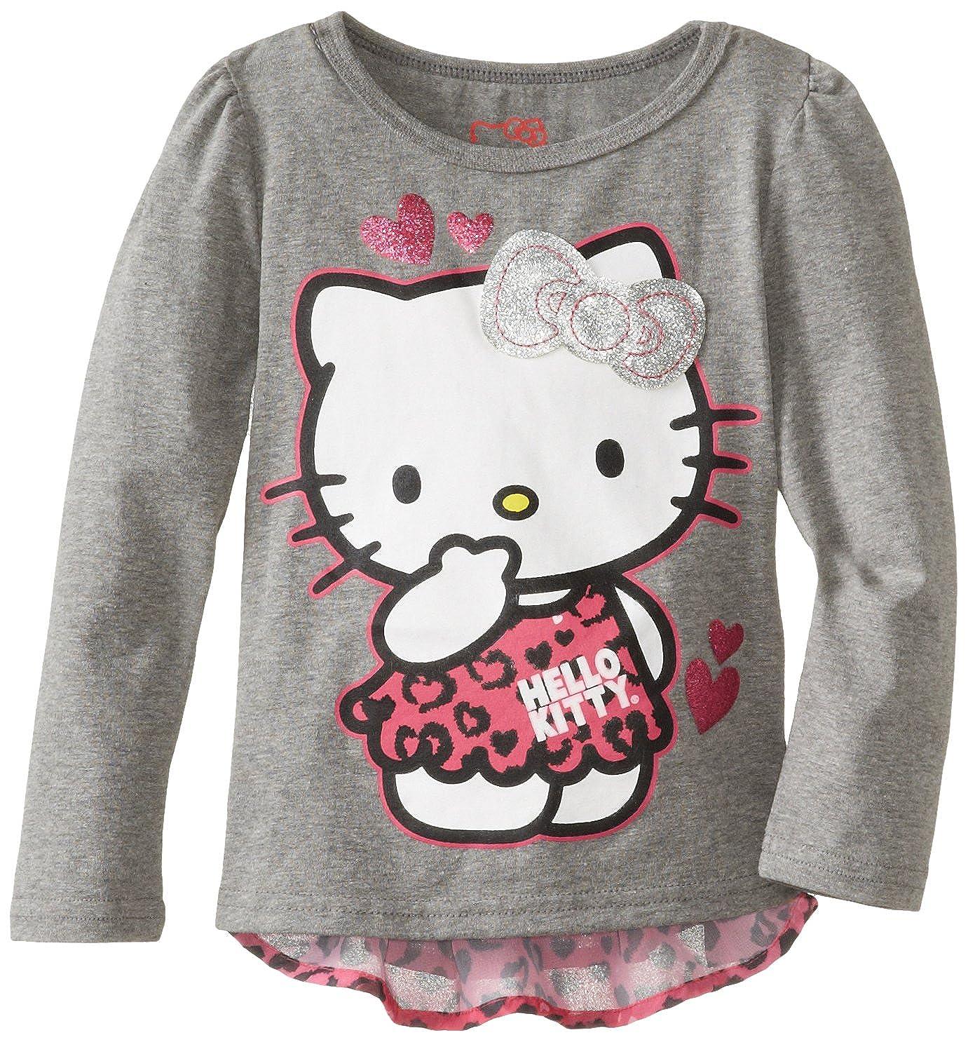 Hello Kitty Top with Chiffon Sleeve