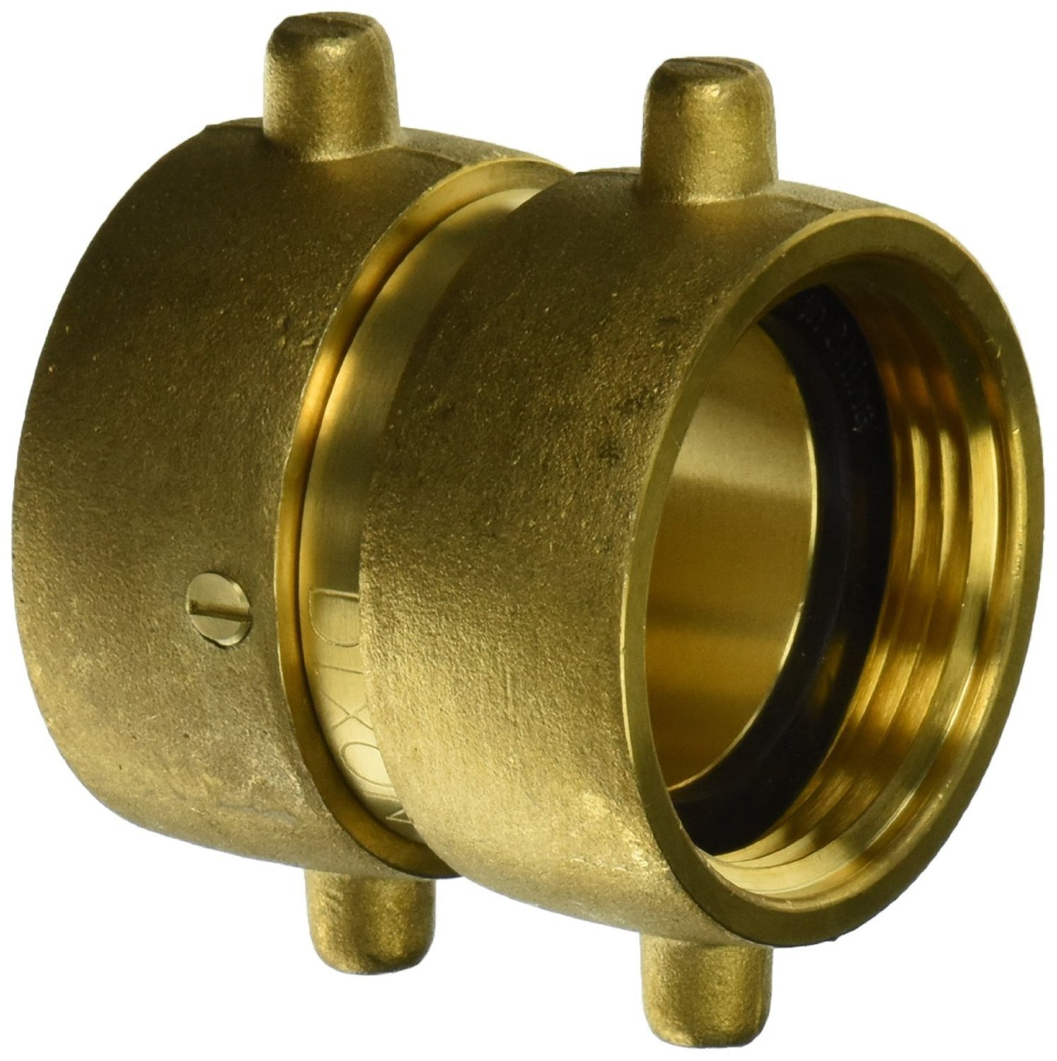 Dixon Valve DFP1515F Brass Fire Equipment, Double Female Swivel with Pin Lug, 1-1/2'' NST (NH) Female