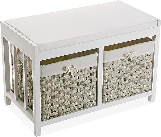 Versa 21520013 Mueble bajo baño o Cocina Pompei con 2 cajones cestas en Color Beige, Madera, 42 x 34 x 64 cm: Amazon.es: Juguetes y juegos