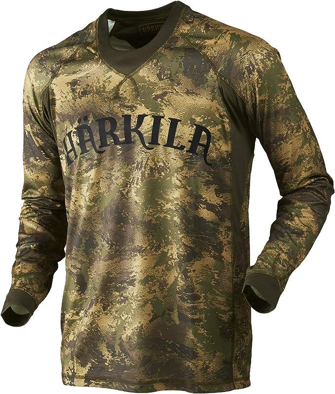 Härkila Camiseta de Caza de Manga Larga de la Marca Lynx L/S Axis MSP® con diseño de Camuflaje: Amazon.es: Ropa y accesorios
