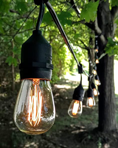 Amazon e26 outdoor commercial string lights with suspended e26 outdoor commercial string lights with suspended socket for weatherproof heavy duty vintage outside lighting workwithnaturefo