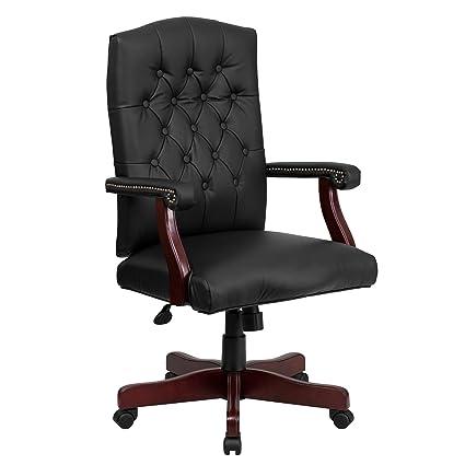 Attractive Amazon.com: Flash Furniture Martha Washington Black Leather  WE18