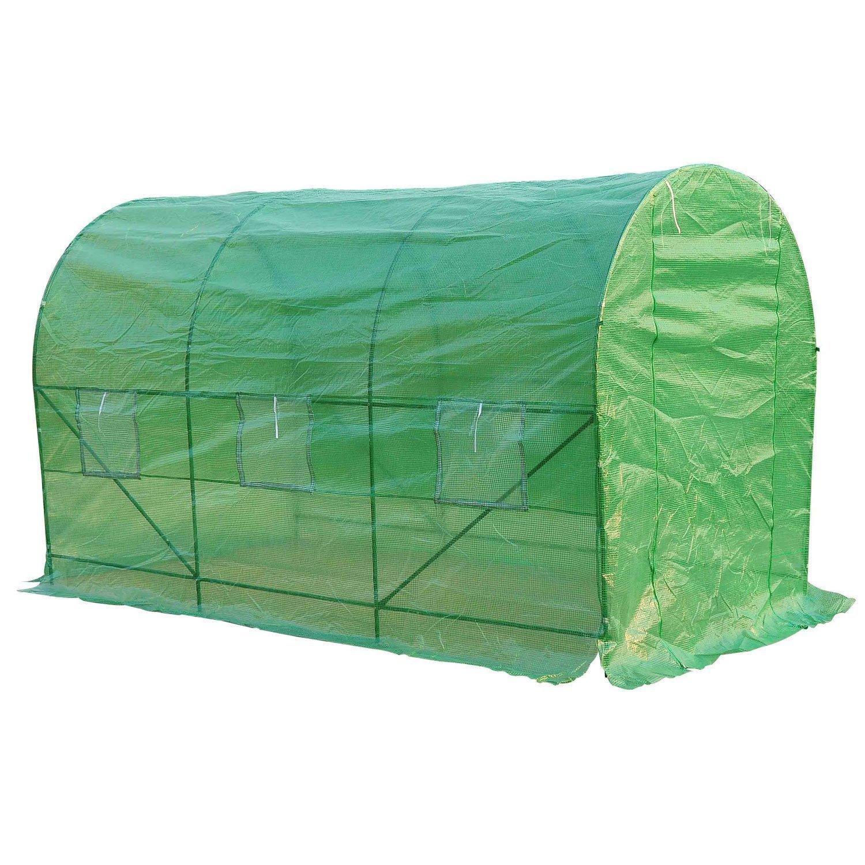 HOMCOM - Invernadero caseta 350 x 200 x 200 Jardin terraza Cultivo de Plantas semilla: Amazon.es: Hogar