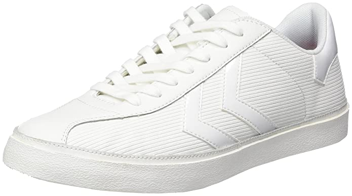 Hummel Diamant White Stripes, Sneakers Basses Femme, (White), 39 EU