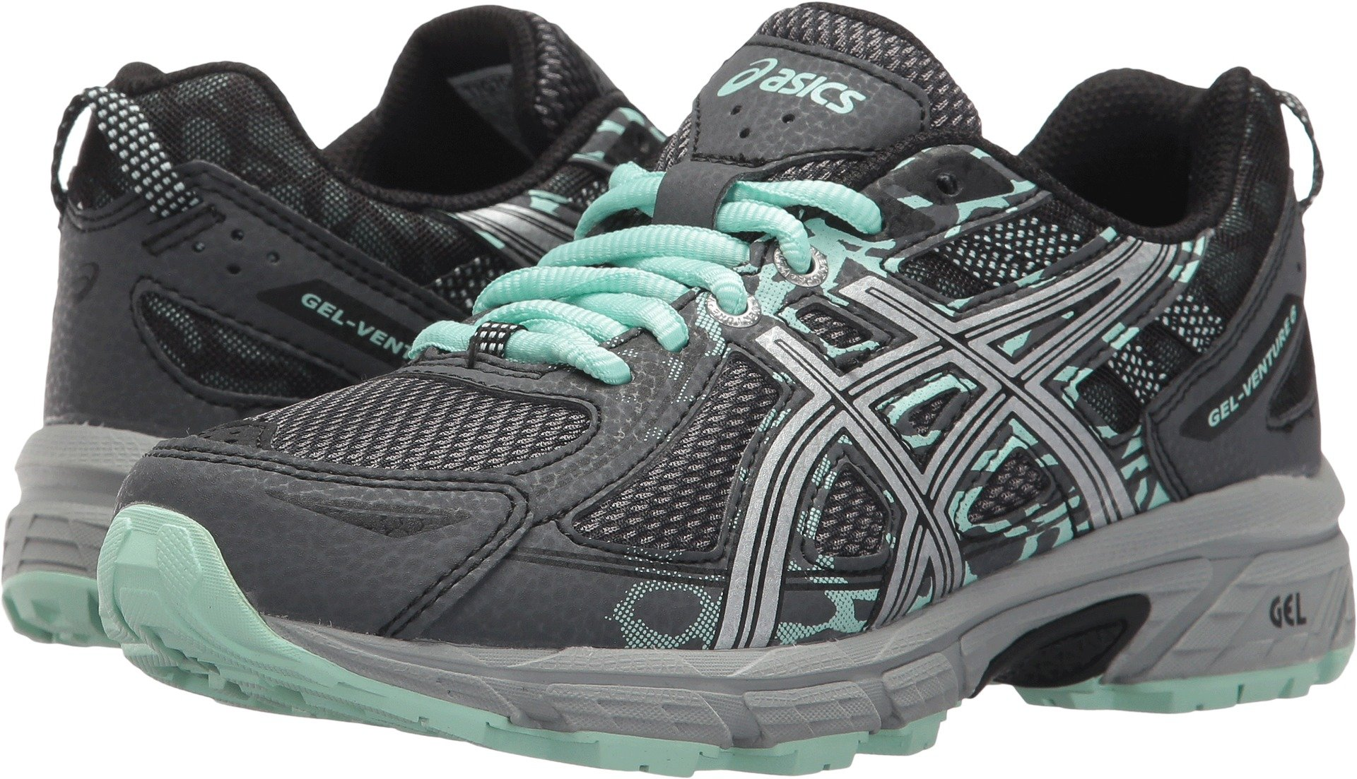 ASICS Women's Gel-Venture 6 Running-Shoes,Castlerock/Silver/Honeydew,5 D US