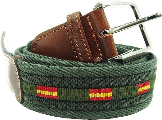 Pi2010 Cinturón verde con banderas de España, terminaciones en ...