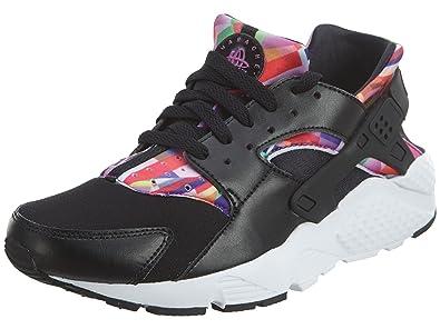 Nike Huarache Run Print Black/Black-Hyper Violet (Big Kid) (4