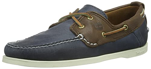 Timberland EKHERT2EYE DK Brown, Mocasines para Hombre, marrón (Blau/Dark Braun), 42 EU: Amazon.es: Zapatos y complementos