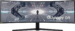 SAMSUNG 49-inch Odyssey G9 - QHD, 240hz, 1000R Curved Gaming Monitor, 1ms, NVIDIA G-SYNC & FreeSync, QLED (LC49G95TSSNXZA)