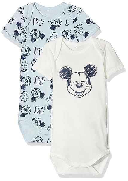 NAME IT Nbmmickey Bert SS Body Wdi Noos, Pijama para Bebés, Multicolor (Baby