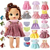 22 Pcs Girl Doll Clothes and Accessories For Alive Baby Doll Bitty Baby American Doll Girl Fits 13 14 15 16 Inch Girl Dolls I