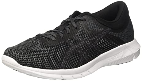 Asics NitroFuze 2 Mens Running Shoes, Color- Black, US Shoe Size- 8